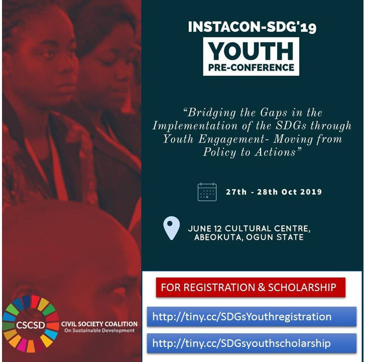 INSTACON-SDGs 2019 YOUTH PRE-CONFERENCE