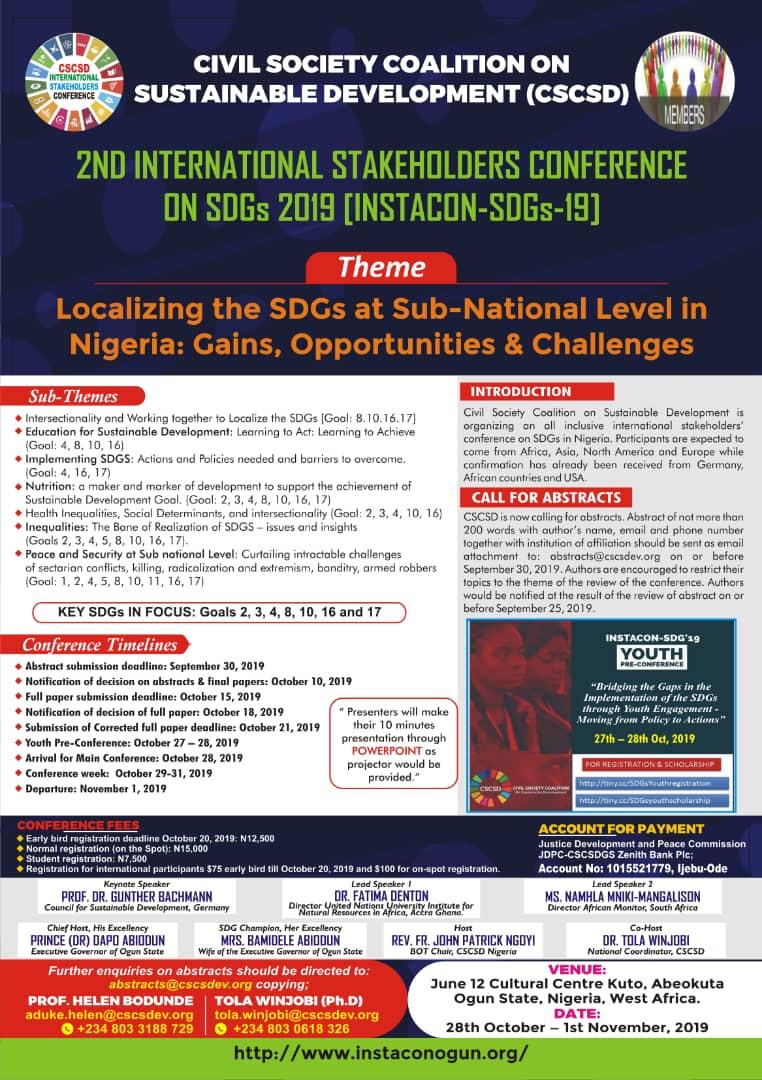 2ND INSTACON-SDGs 2019